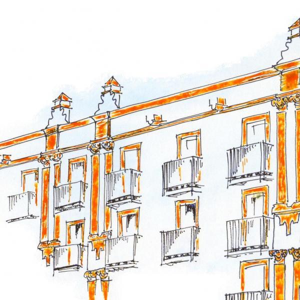 Dibujo Hotel Fuentemar